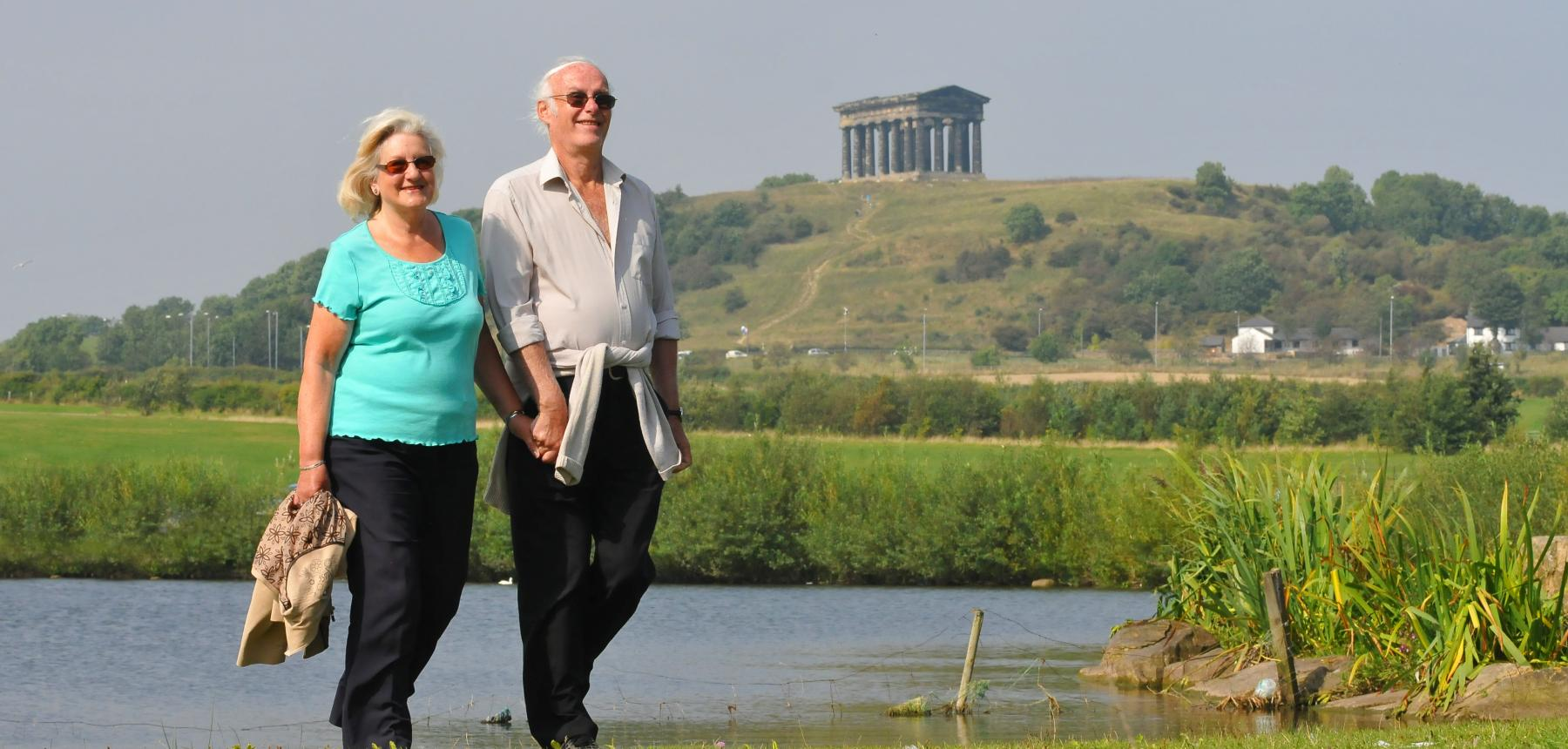 Elderly couple at Herrington Country Park