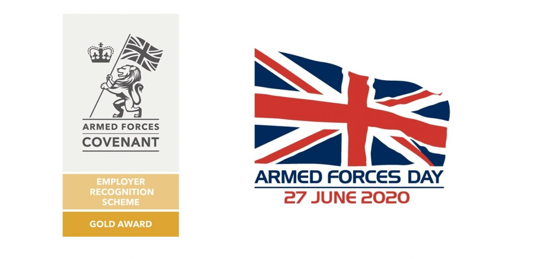 ERS Gold Award and Armed Forces Day logo